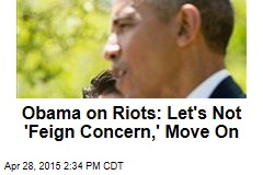 Obama on Baltimore: Let's Not 'Feign Concern'