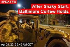 Cops, Troops Enforce Baltimore Curfew