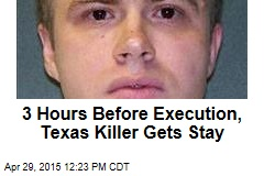 3 Hours Before Execution, Texas Killer Gets Stay