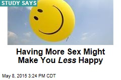 Having More Sex Might Make You Less Happy
