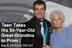 Teen Takes His 93-Year-Old Great-Grandma to Prom