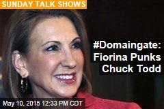 #Domaingate: Fiorina Punks Chuck Todd