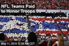 NFL Teams Paid to Honor Troops