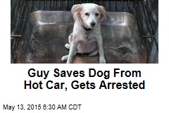Guy Saves Dog From Hot Car, Gets Arrested