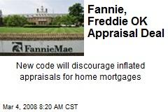 Fannie, Freddie OK Appraisal Deal