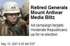 Retired Generals Mount Antiwar Media Blitz