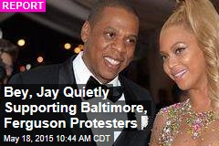 Bey, Jay Quietly Supporting Baltimore, Ferguson Protesters