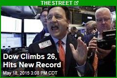 Dow Climbs 26 as Apple Rallies