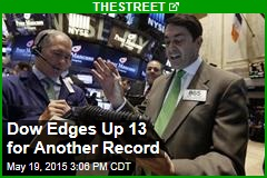 Dow Edges Up 13 for Another Record