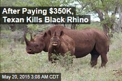 Texas Auction Winner Kills Black Rhino