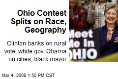 Ohio Contest Splits on Race, Geography