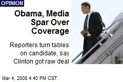 Obama, Media Spar Over Coverage