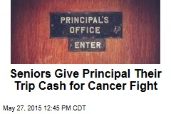 Seniors Give Principal Their Trip Cash for Cancer Fight
