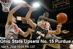 Ohio State Upsets No. 15 Purdue