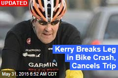 Kerry Hospitalized After Bike Crash