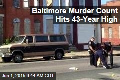 Baltimore Murder Count Hits 43-Year High