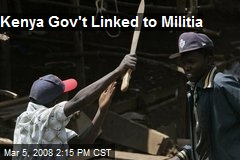 Kenya Gov't Linked to Militia