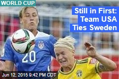 Still in First: Team USA Ties Sweden