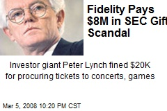 Fidelity Pays $8M in SEC Gift Scandal