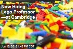 Now Hiring: Lego Professor —at Cambridge