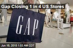 Gap Closing 1 in 4 US Stores