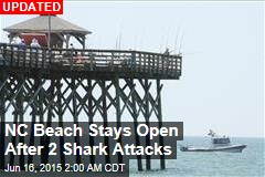 NC Beach Stays Open After 2 Shark Attacks