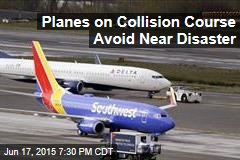 Planes on Collision Course Avoid Near Disaster
