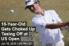 15-Year-Old Gets Choked Up Teeing Off at US Open
