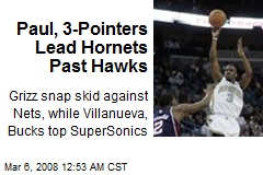 Paul, 3-Pointers Lead Hornets Past Hawks
