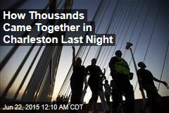 Thousands Pack Charleston Bridge in Show of Unity