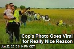 Cop's Photo Goes Viral for Really Nice Reason