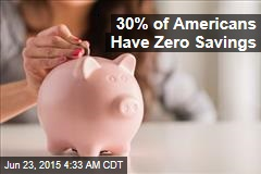 30% of Americans Have Zero Savings