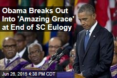 Obama Leads Crowd in Song at End of SC Eulogy