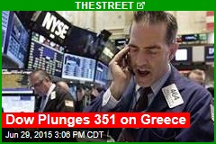 Dow Plunges 351 on Greece