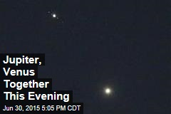 Jupiter, Venus Together This Evening