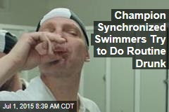 Champion Synchronized Swimmers Try to Do Routine Drunk