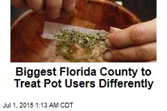 Biggest Fla. County to Start Ticketing Pot Users