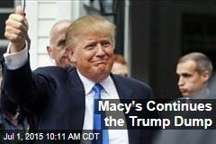 Macy's Continues the Trump Dump