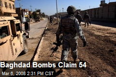 Baghdad Bombs Claim 54