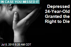 Depressed 24-Year-Old Granted Right to Die
