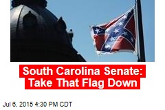 South Carolina Senate: Take That Flag Down