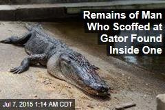 Texas Man's Remains Found in Shot Alligator