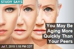 You May Be Aging More Quickly Than Your Peers