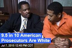 9.5 in 10 American Prosecutors Are White