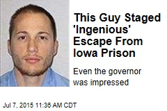 This Guy Staged 'Ingenious' Escape From Iowa Prison