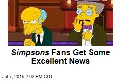 Simpsons Fans Get Some Excellent News