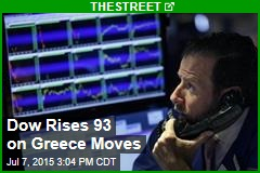 Dow Rises 93 on Greece Moves