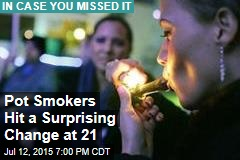 Pot Smokers Hit a Surprising Change at 21