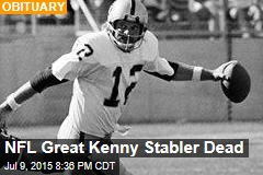 NFL Great Kenny Stabler Dead