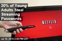 20% of Young Adults Steal Streaming Passwords